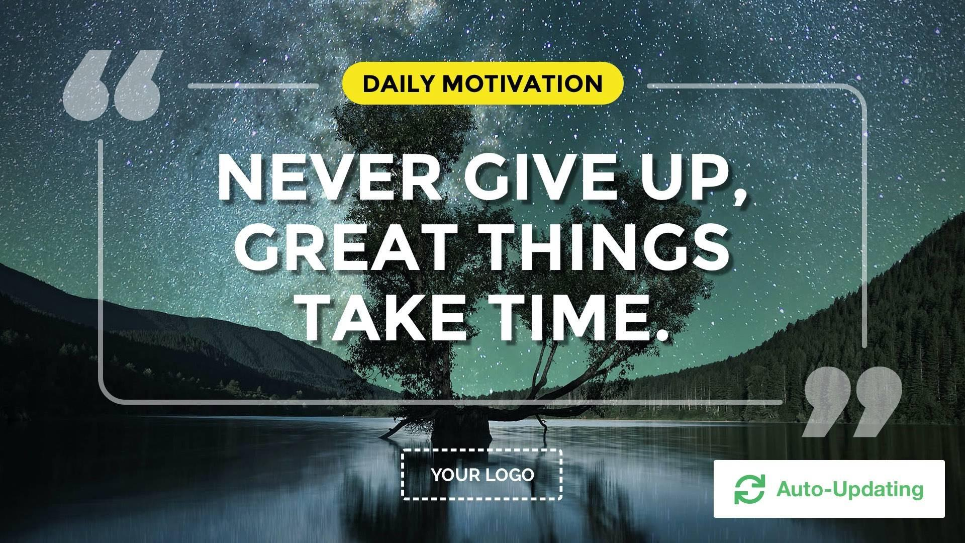 Daily Motivation Digital Signage Template