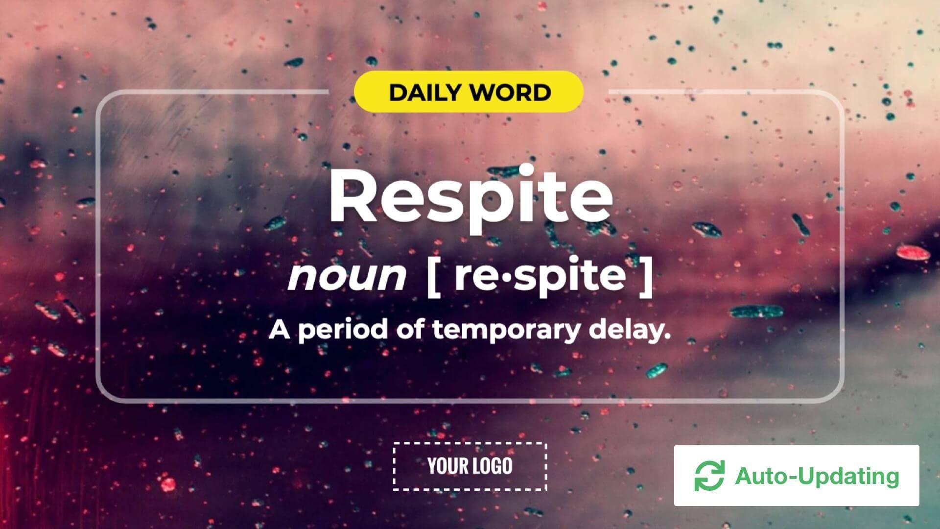 Daily Word Digital Signage Template