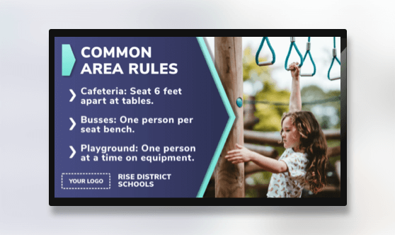 Distance Learning Common Area Rules