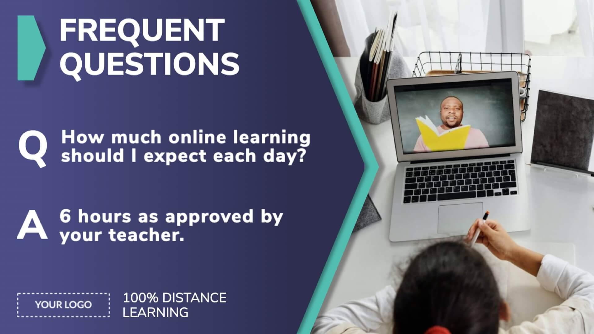 Distance Learning Frequent Questions Digital Signage Template