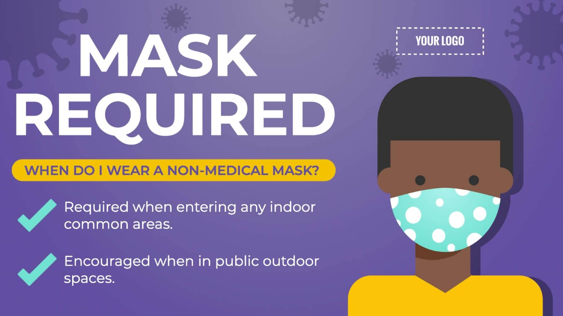 Non-Medical Mask Type Digital Signage Template