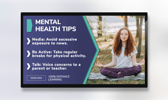 Distance Learning Mental Health Tips