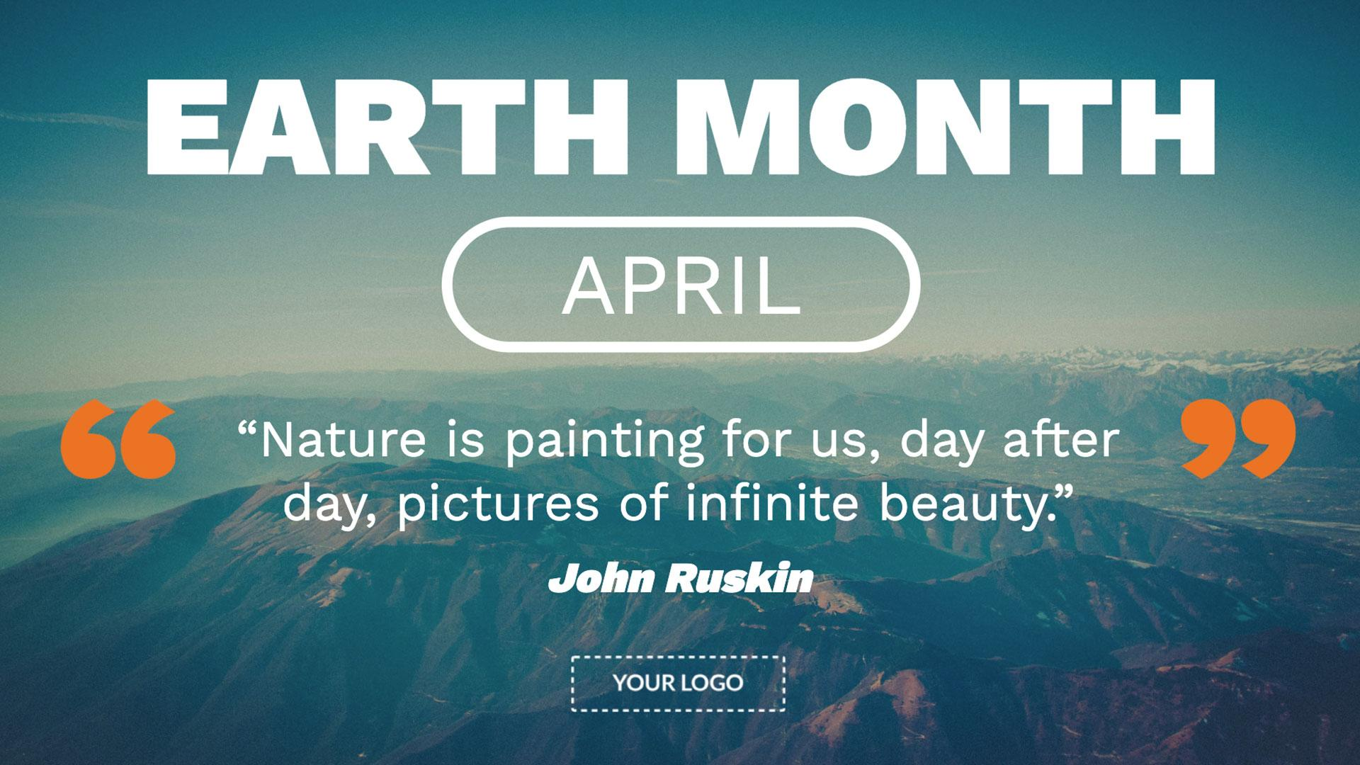 Earth Month Digital Signage Template