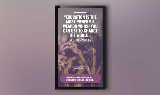 Education Inspiration Quotes Portrait