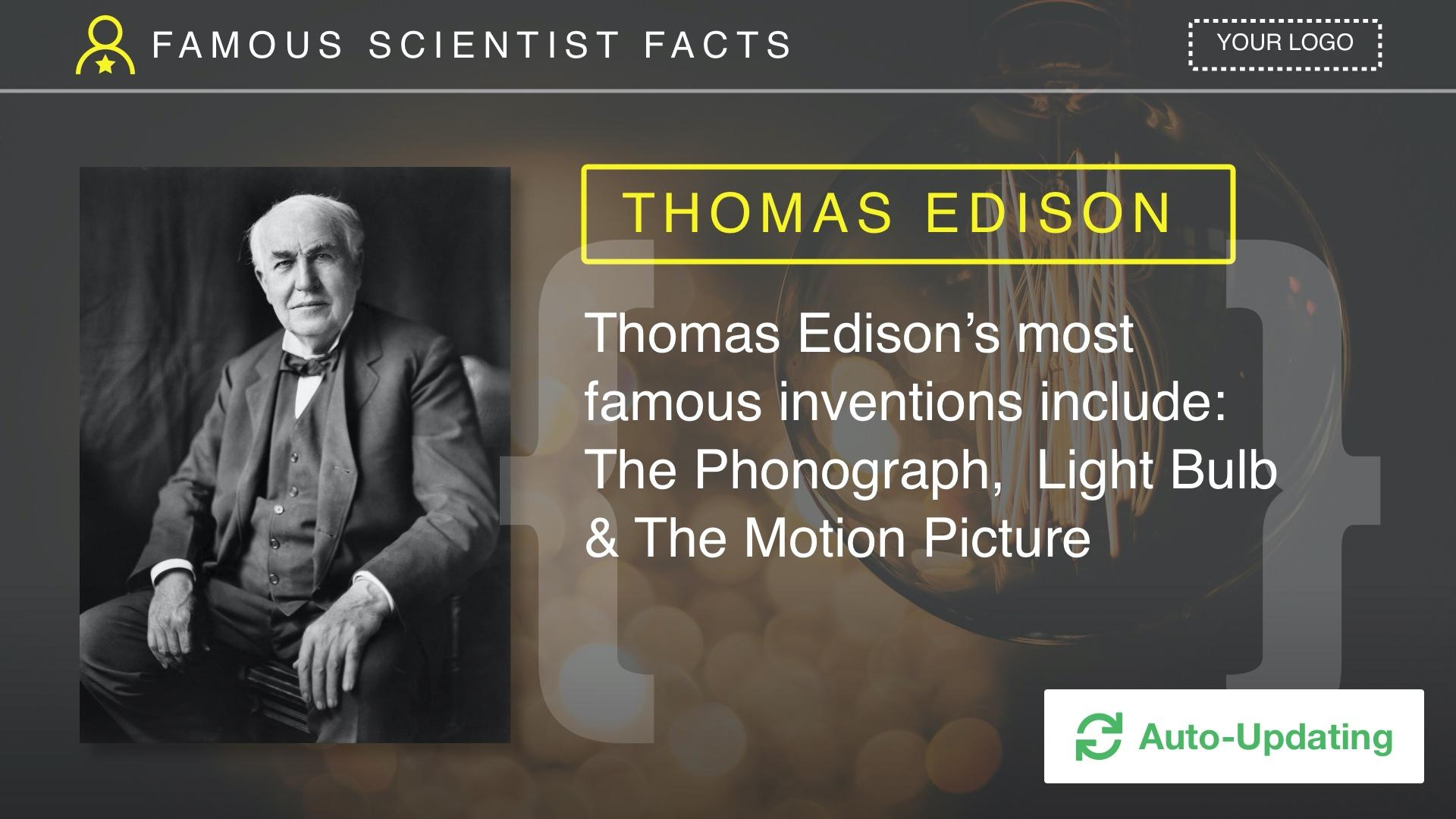 Famous Scientists Digital Signage Template