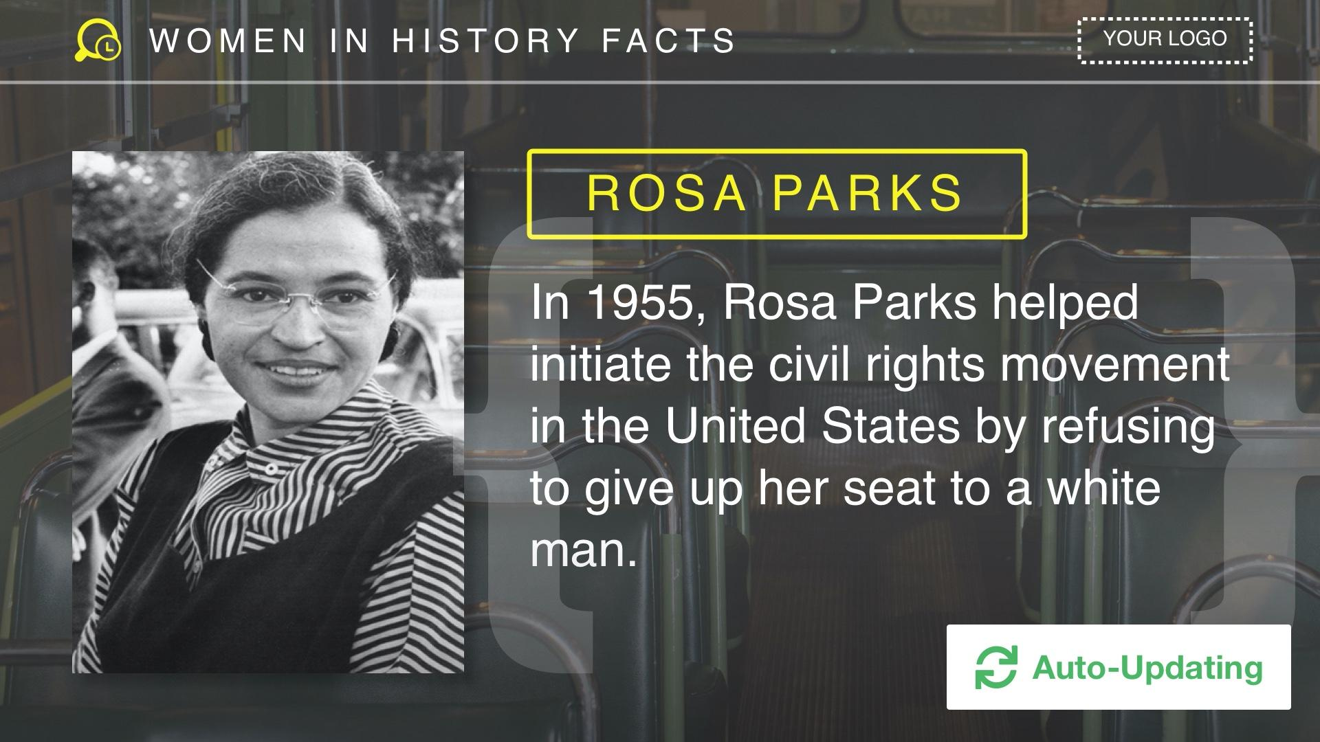 Famous Women in History Digital Signage Template