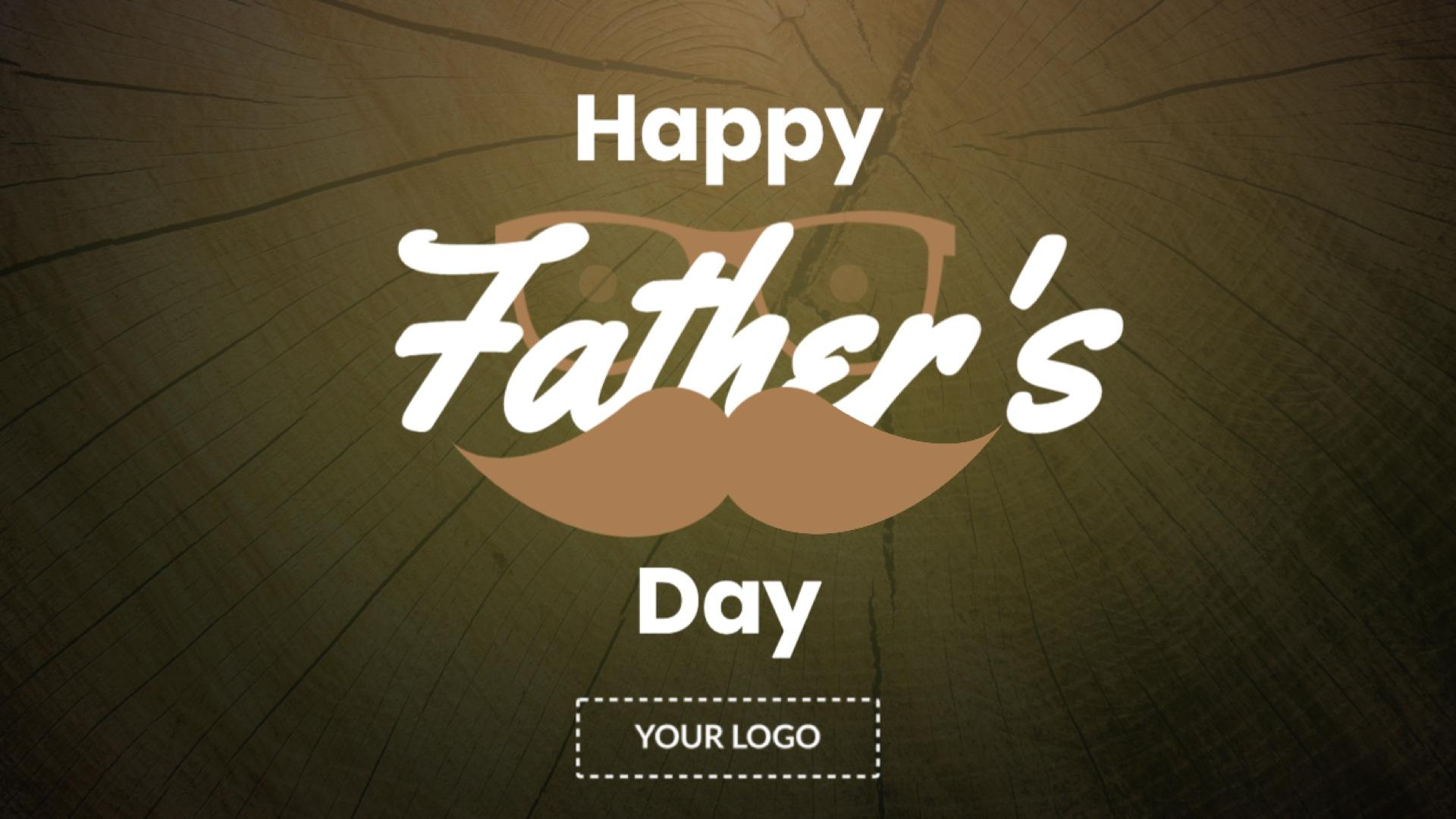 Holiday Father's Day Digital Signage Template