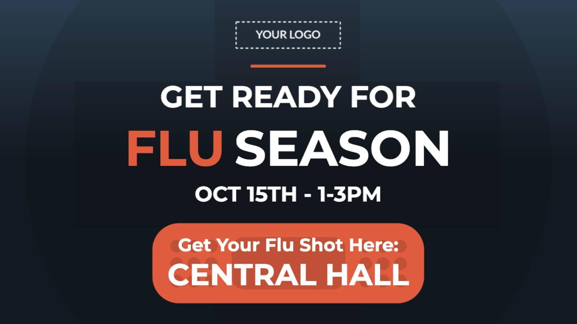 Flu Vaccination Location Digital Signage Template
