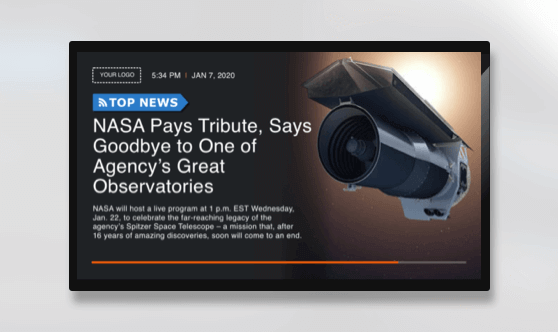 Full Screen RSS News and Image
