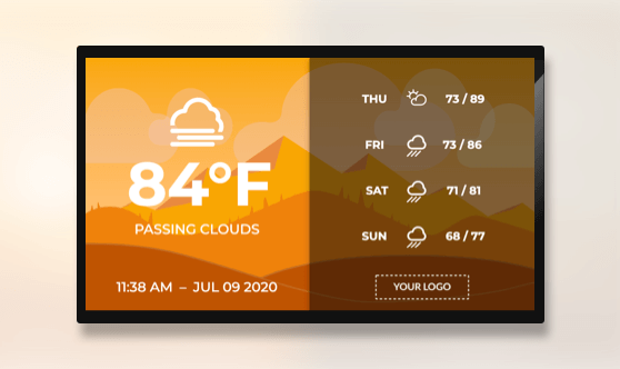 Full Screen Vector Image Weather Extended