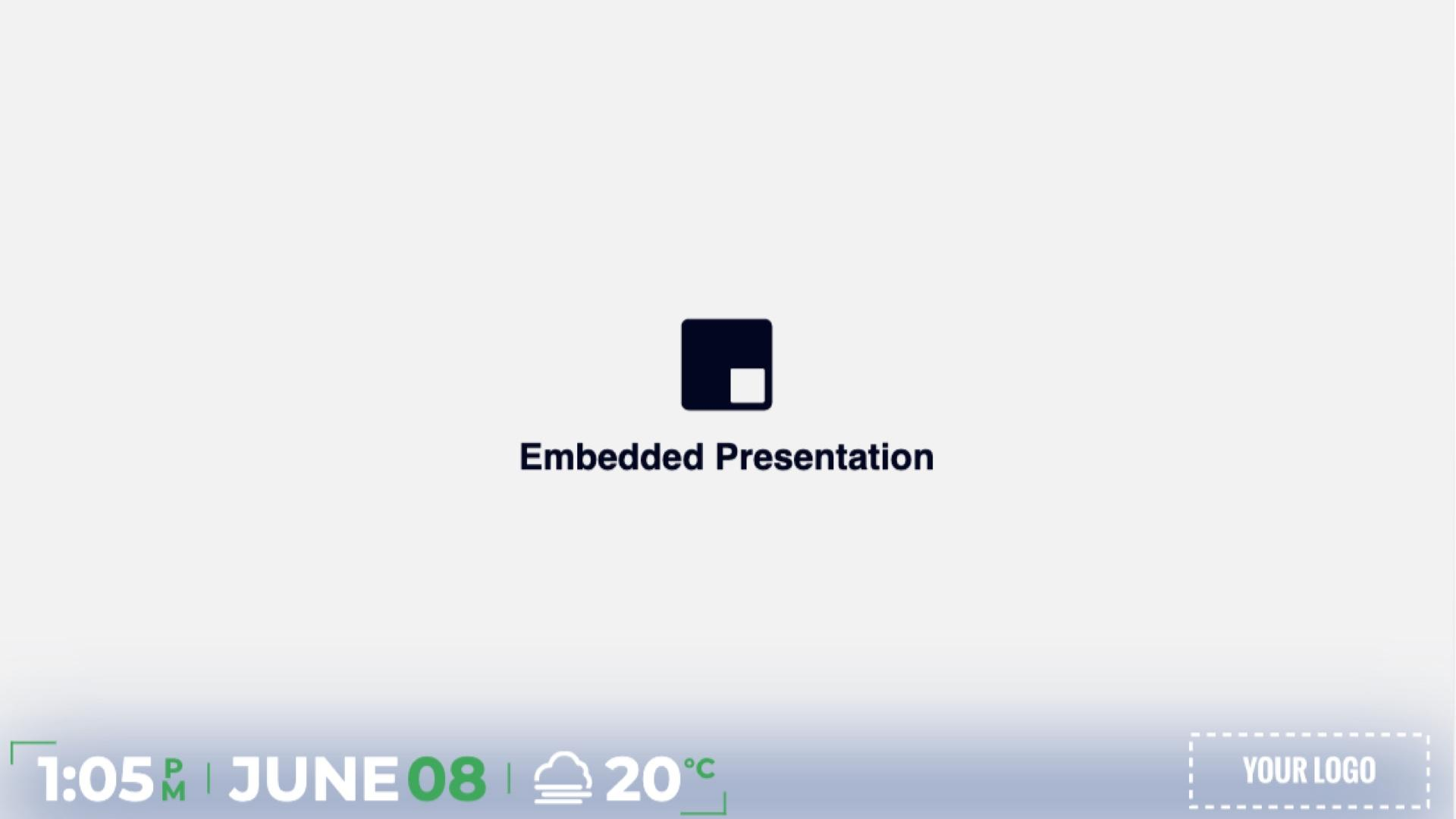 Full Screen Minimal Embedded Presentation Digital Signage Template