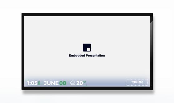 Full Screen Minimal Embedded Presentation