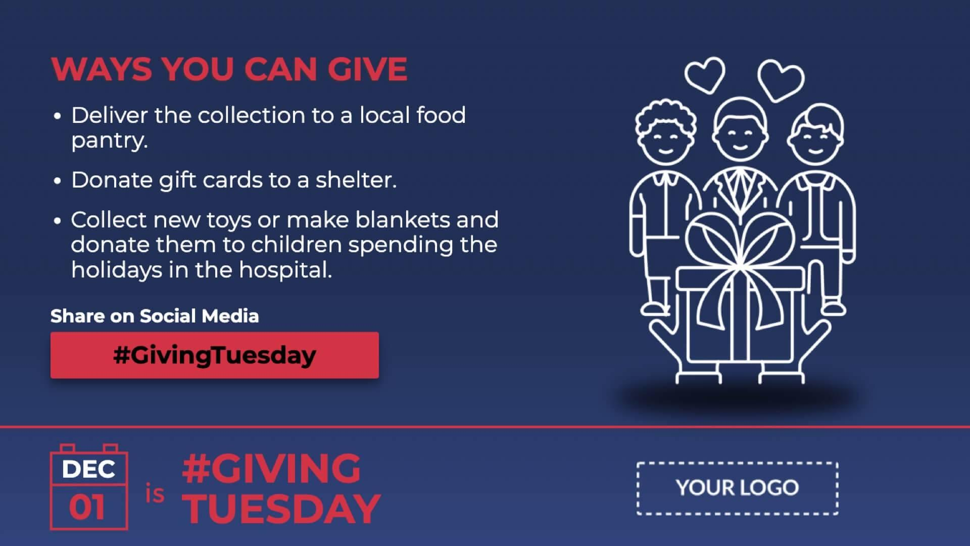Giving Tuesday Digital Signage Template
