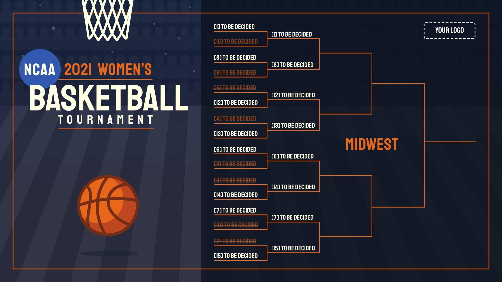 2021 NCAA Women's Tournament Digital Signage Template