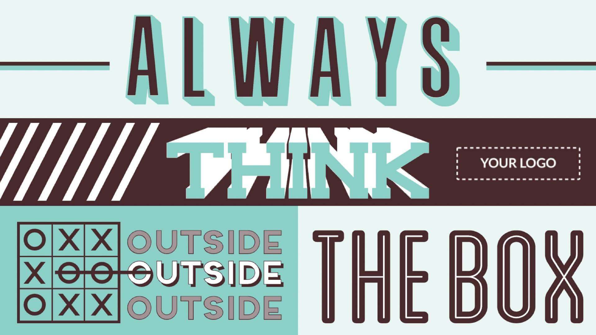 Motivation - Think Outside the Box Digital Signage Template