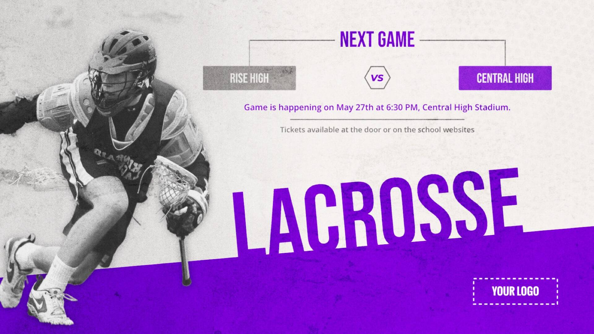Lacrosse Game - Sports Digital Signage Template