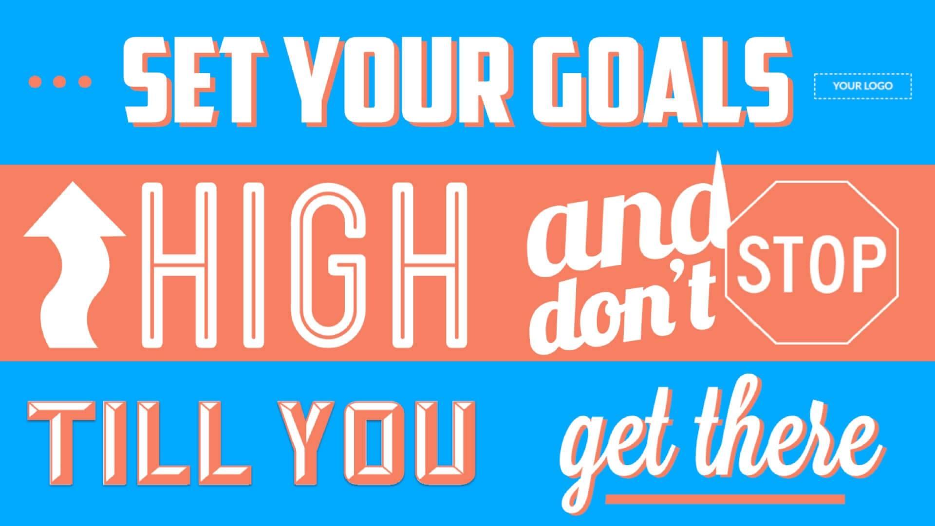 Motivation - Set Goals Digital Signage Template