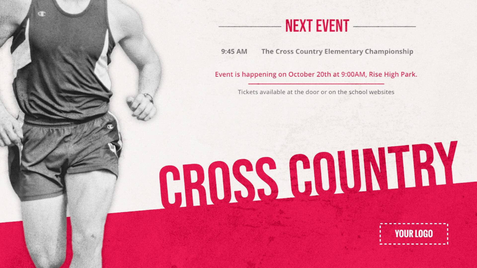 Cross Country - Sports Digital Signage Template