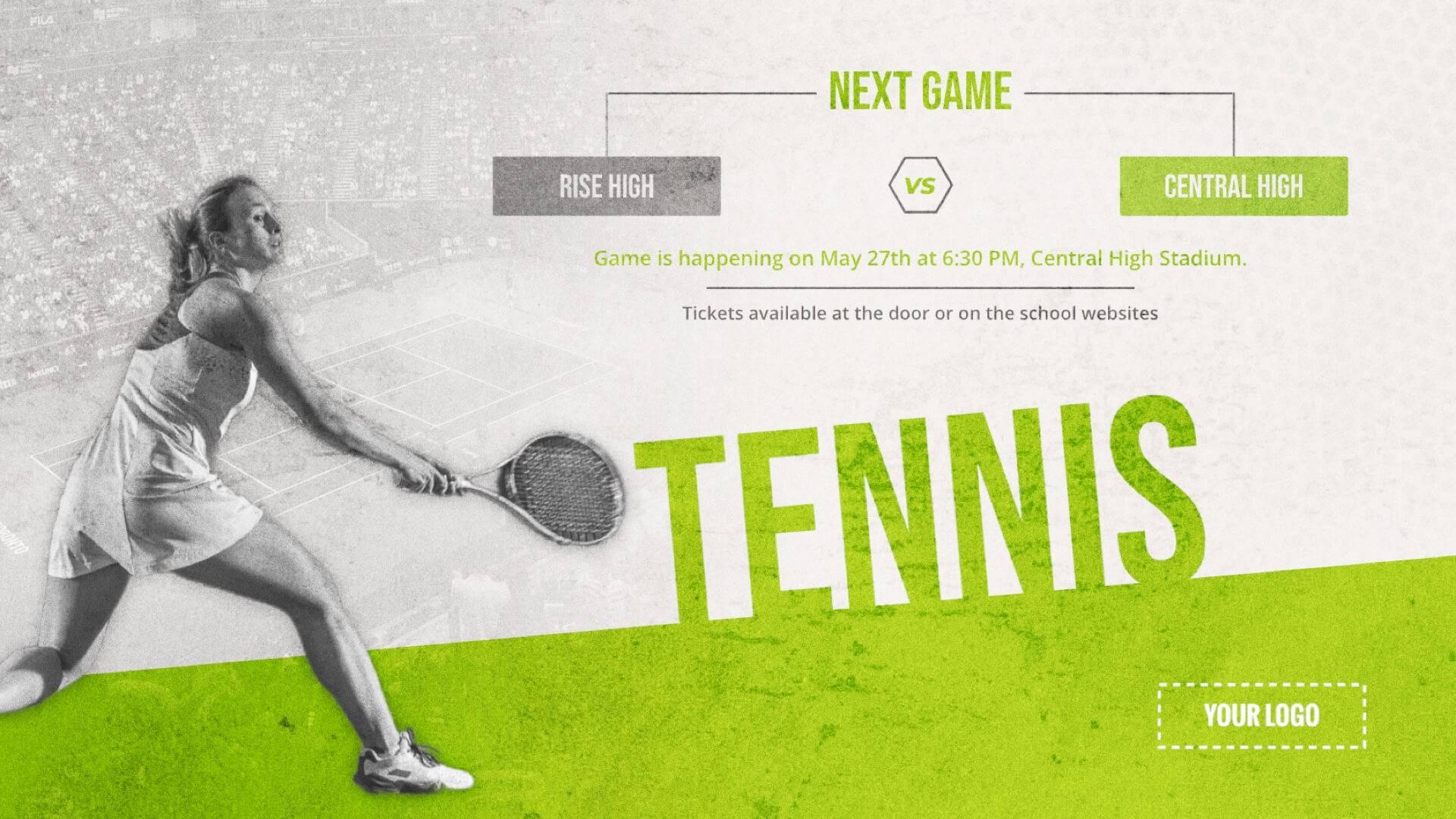 Tennis Tournament - Sports Digital Signage Template