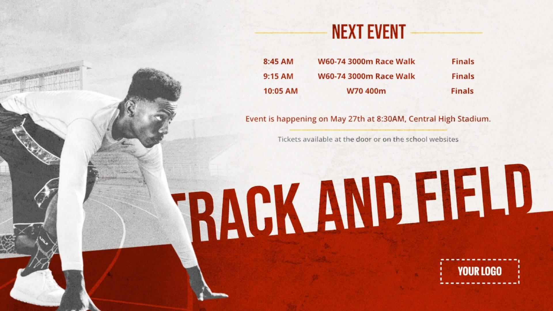 Track & Field - Sports Digital Signage Template
