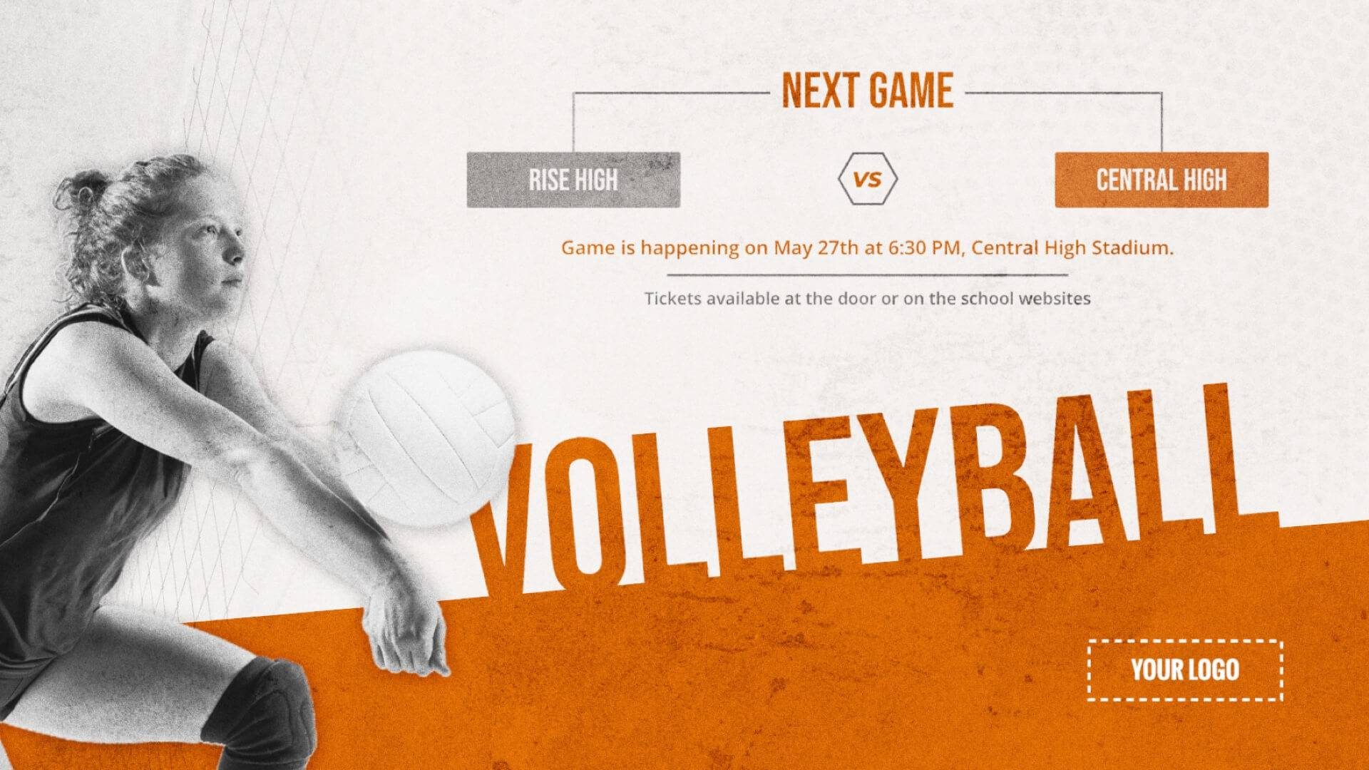 Volleyball Game - Sports Digital Signage Template