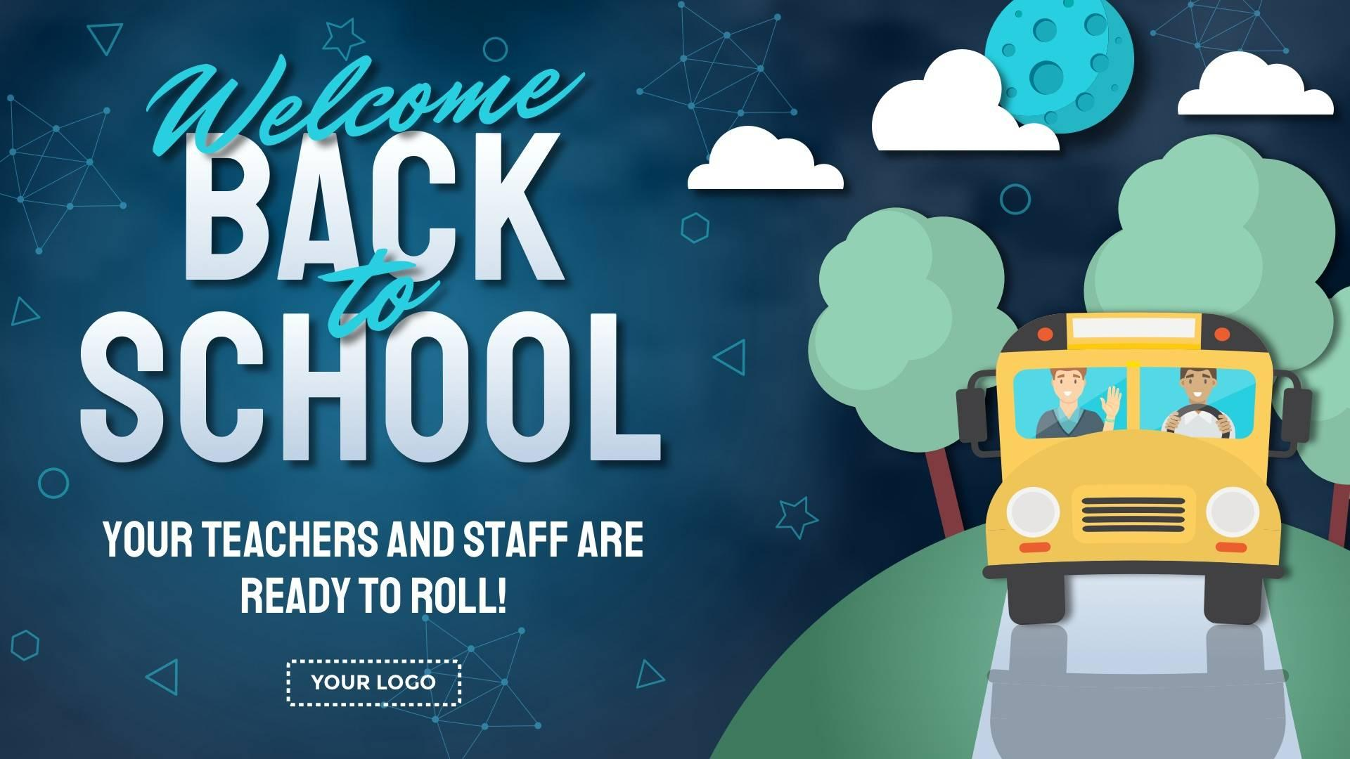 Welcome Back Announcement Digital Signage Template