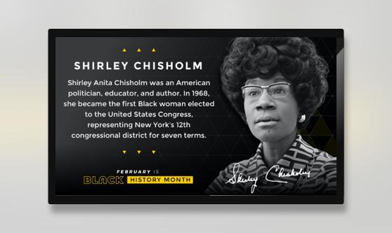 Black History Month Shirley Chisholm