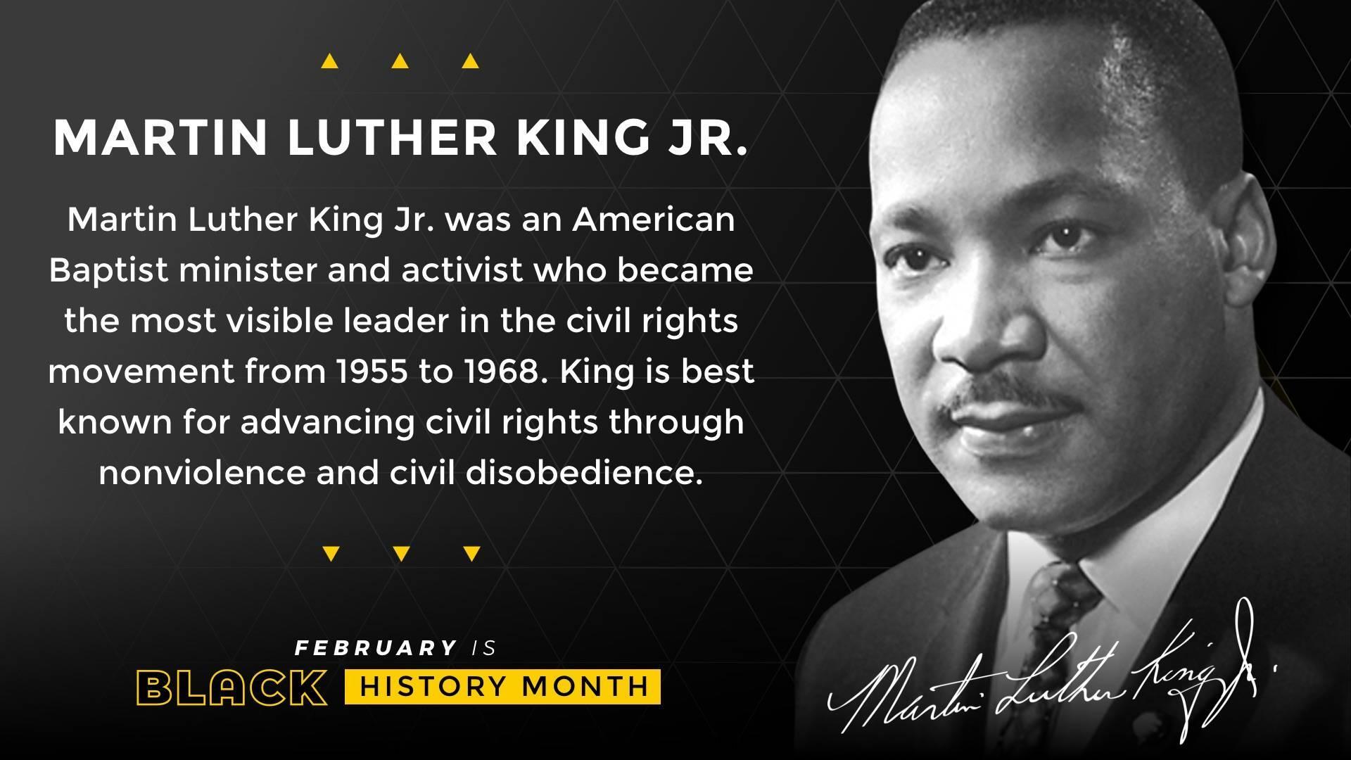 Black History Month Martin Luther King Jr. Digital Signage Template