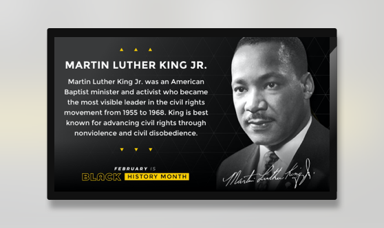 Black History Month Martin Luther King Jr.