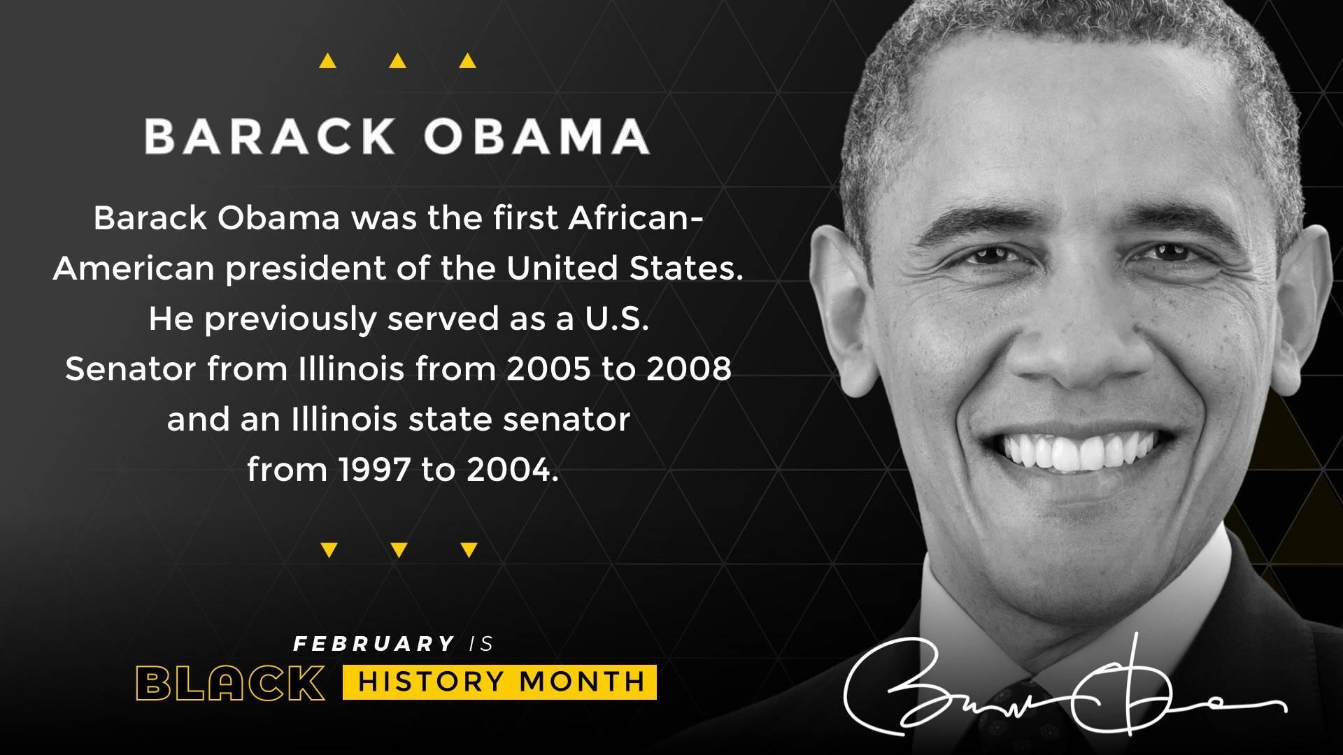 Black History Month Barack Obama Digital Signage Template