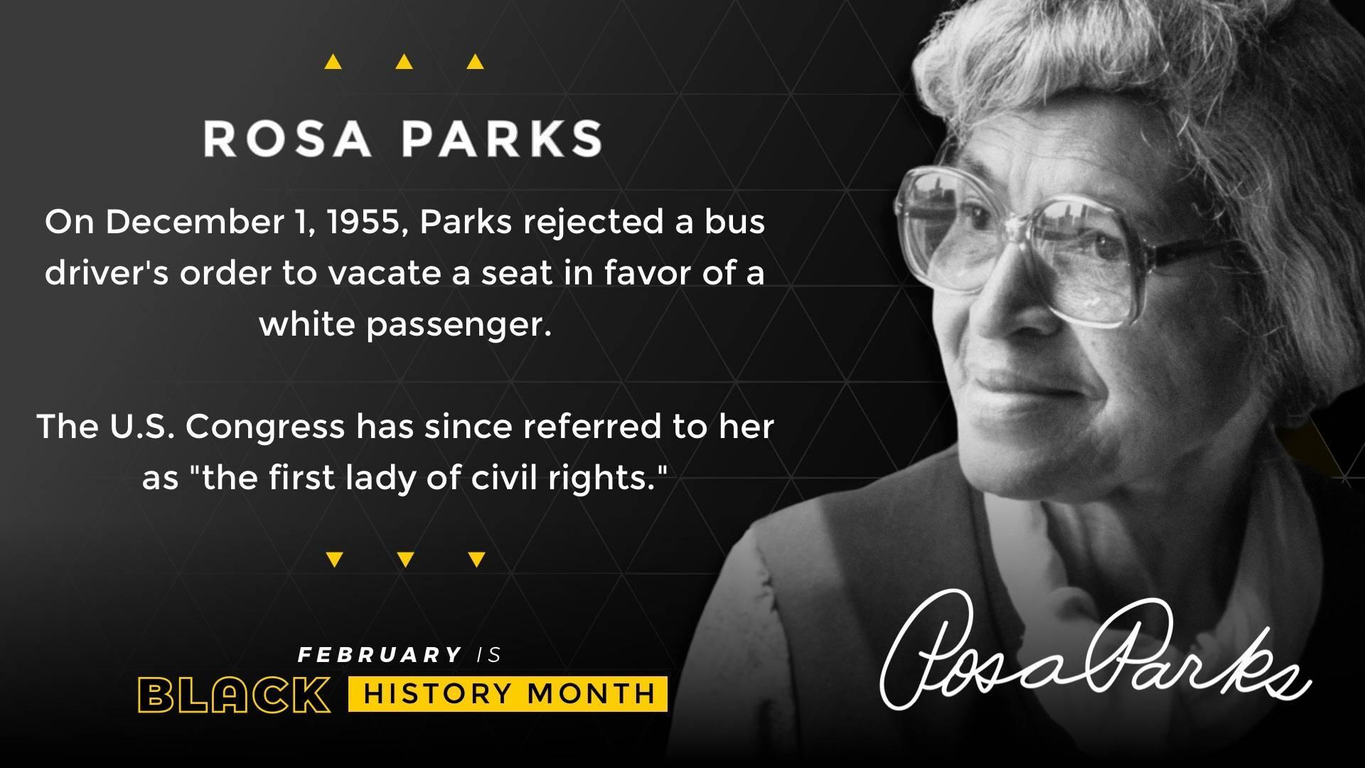 Black History Month Rosa Parks Digital Signage Template