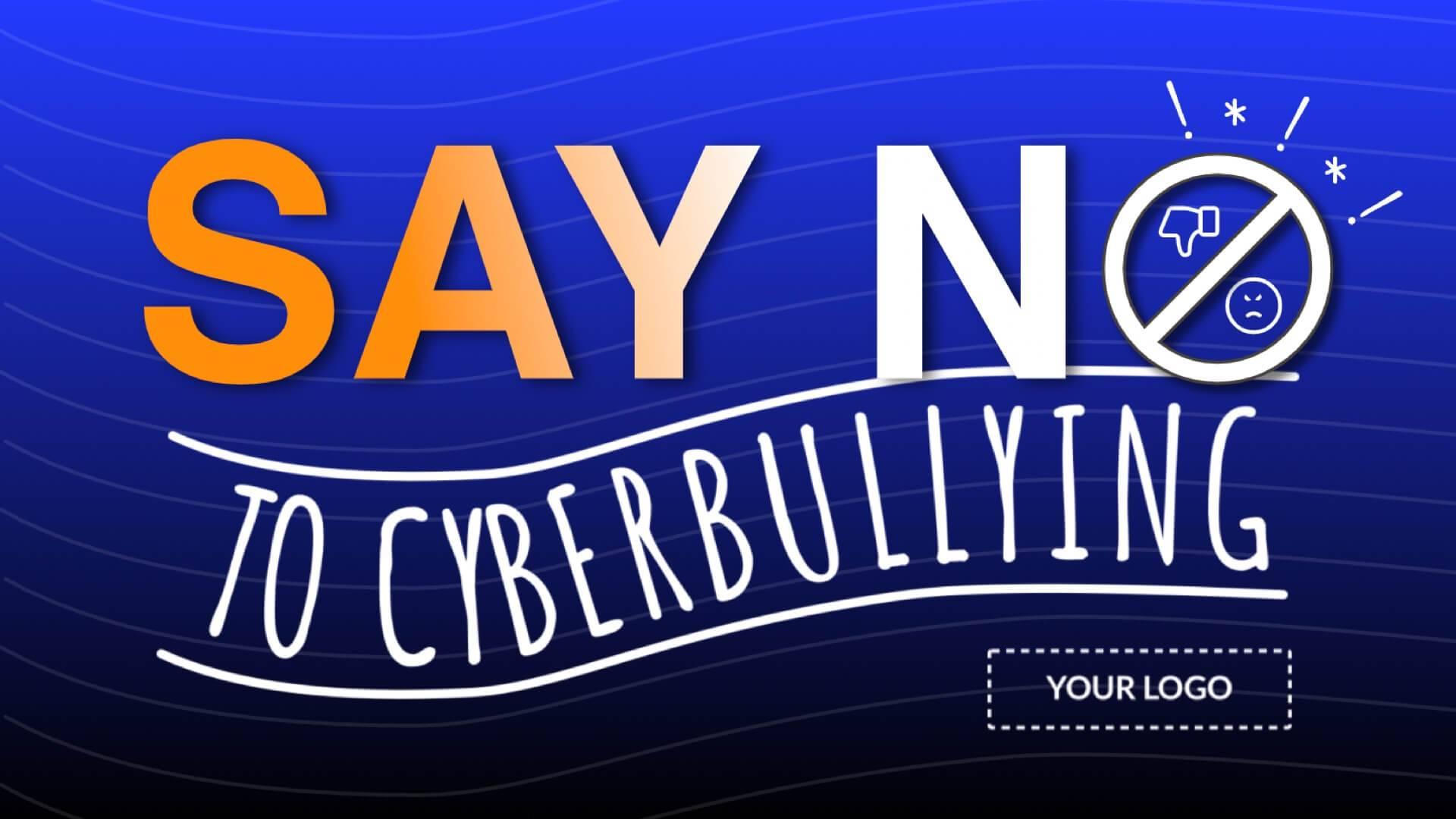 Cyberbullying Digital Signage Template