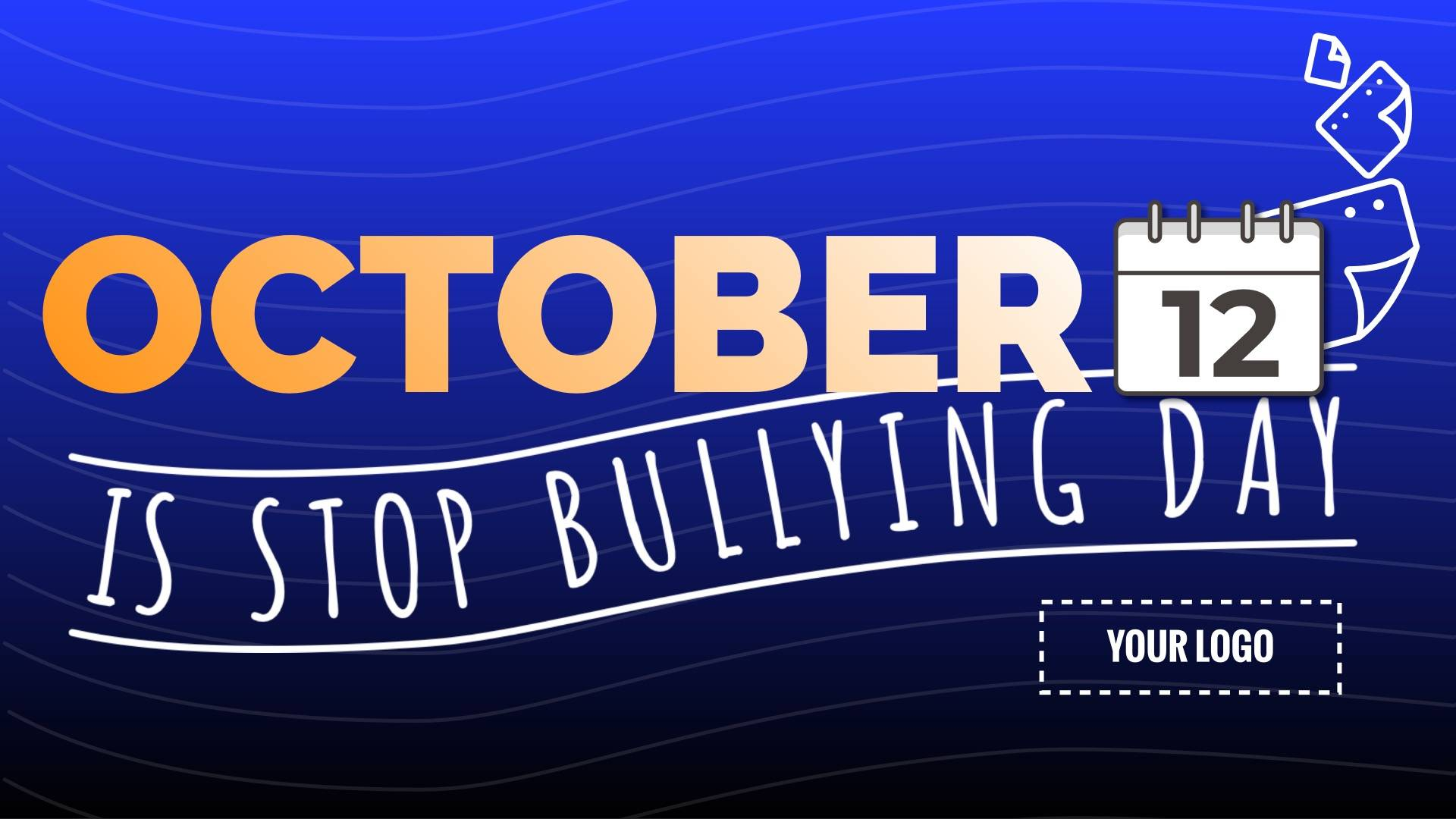 Stop Bullying Day Digital Signage Template