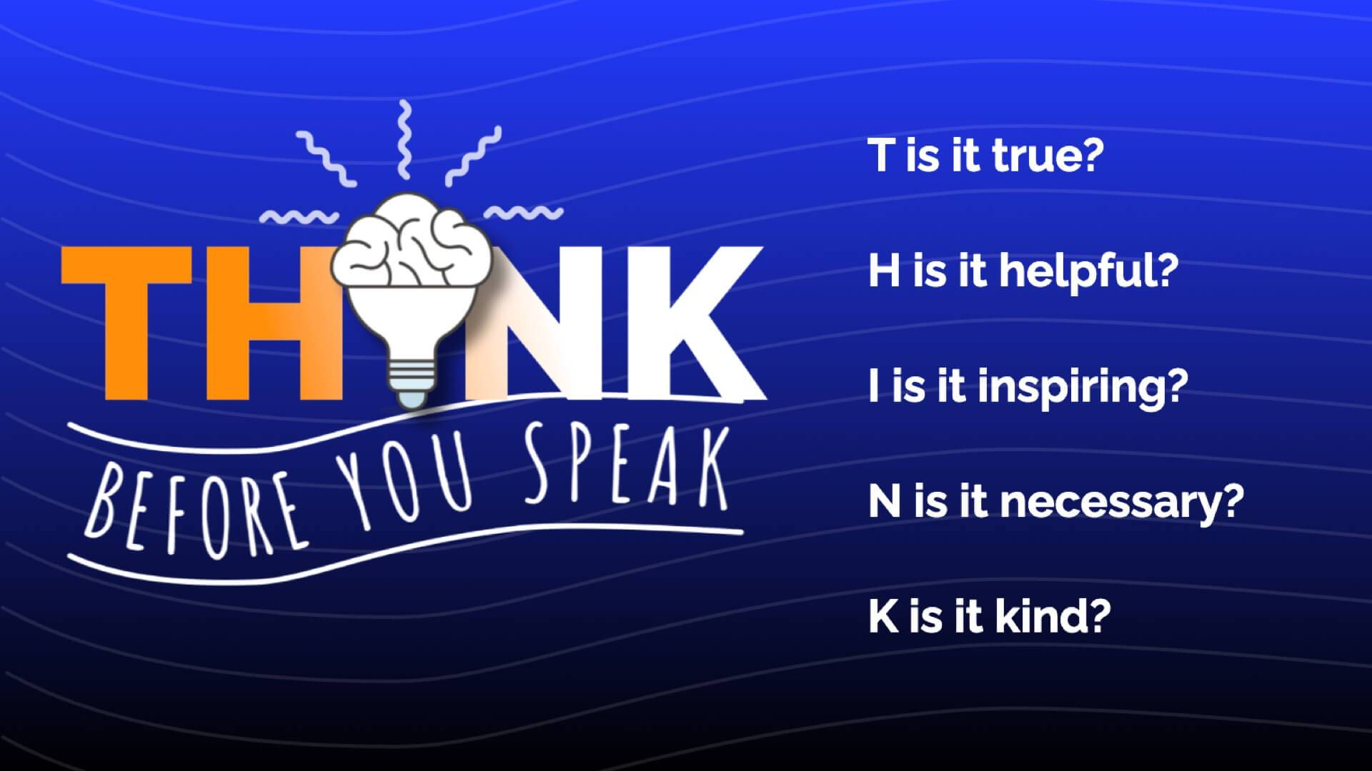 Think Before You Speak Digital Signage Template