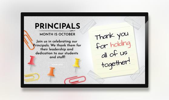 Principals Month in October
