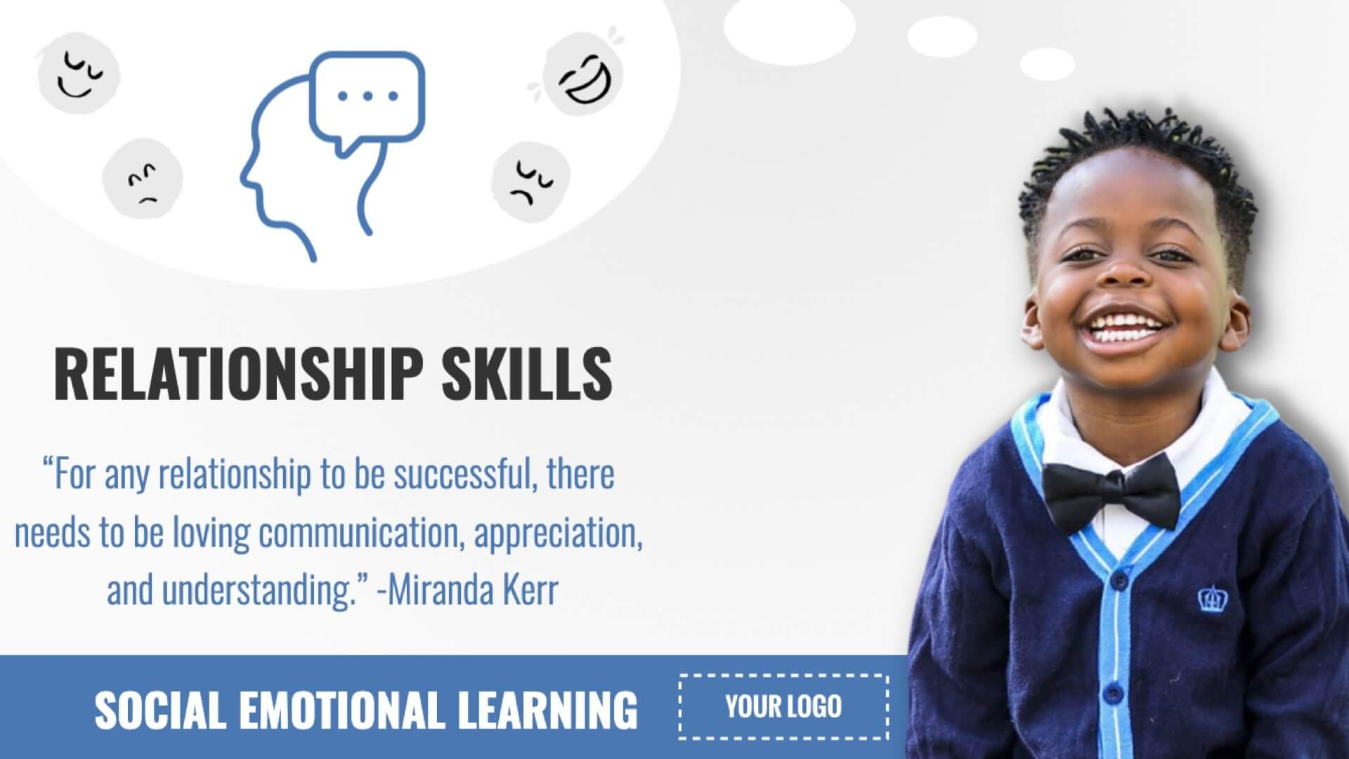 SEL - Relationship Skills Digital Signage Template