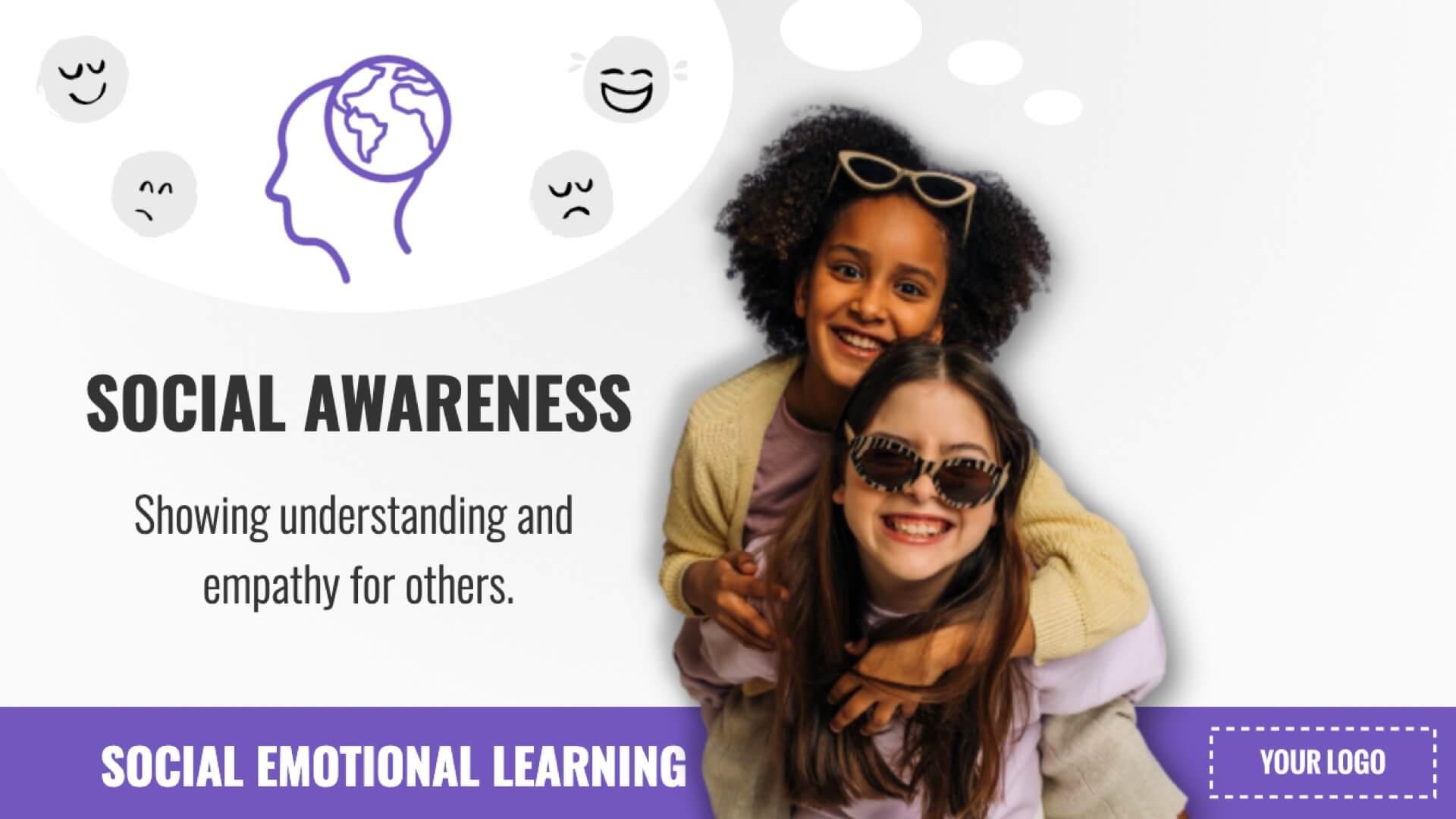 SEL - Social Awareness Digital Signage Template