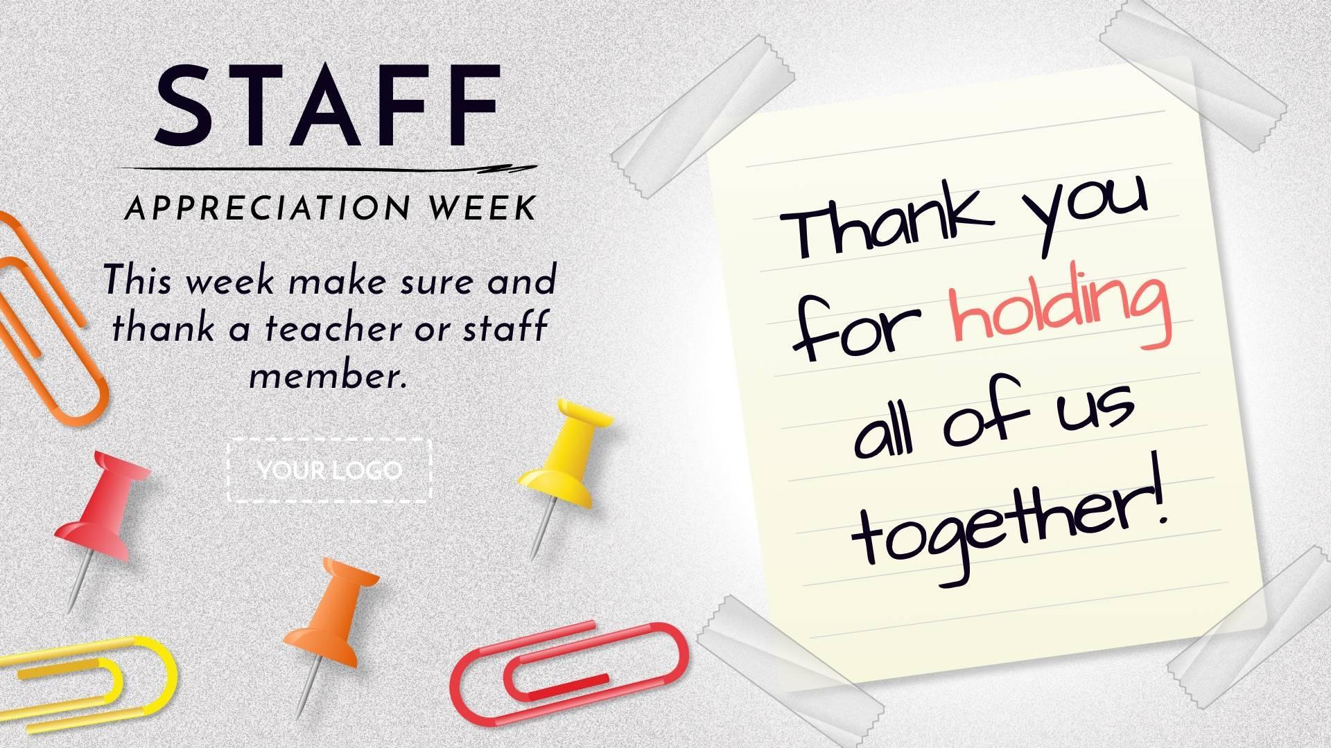Staff Appreciation Week Digital Signage Template