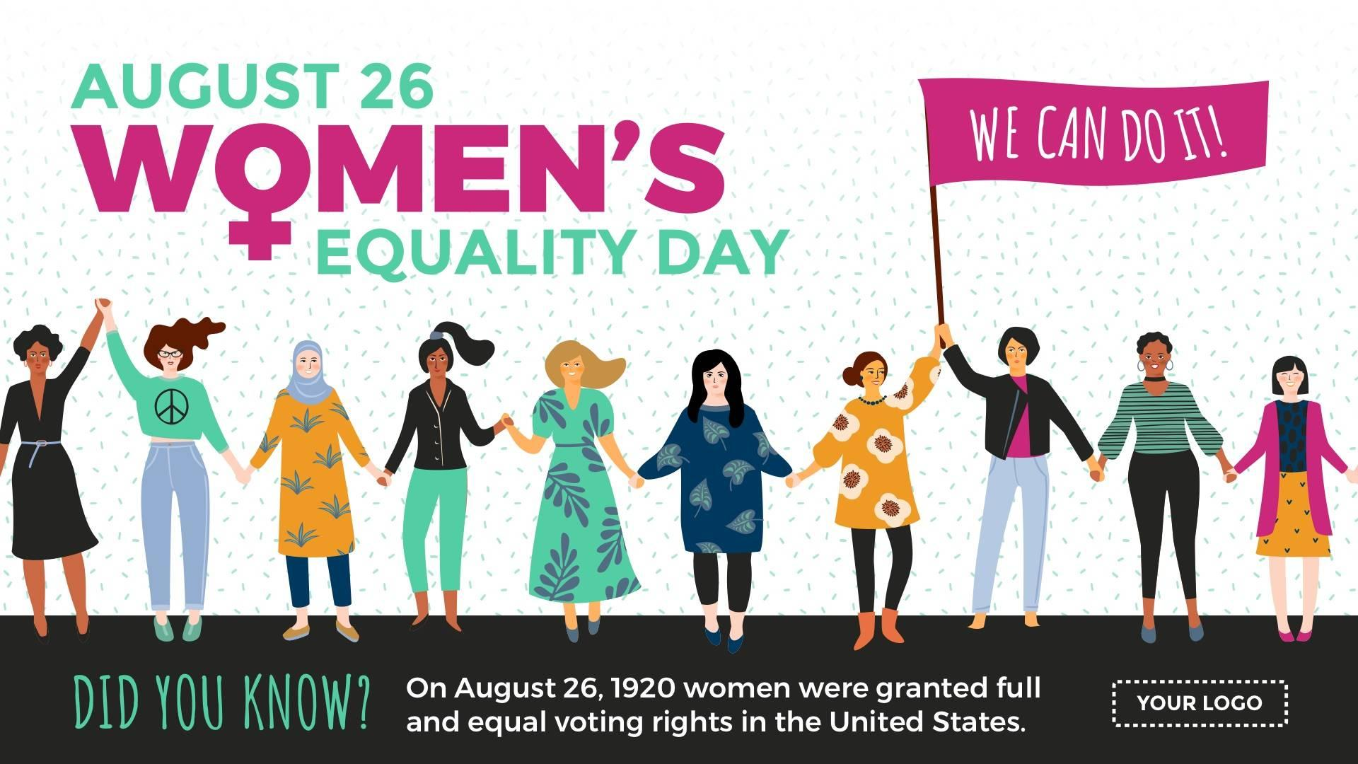Women's Equality Day Digital Signage Template