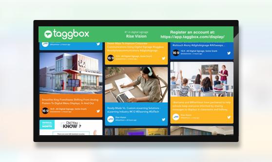 Taggbox Display Social Wall