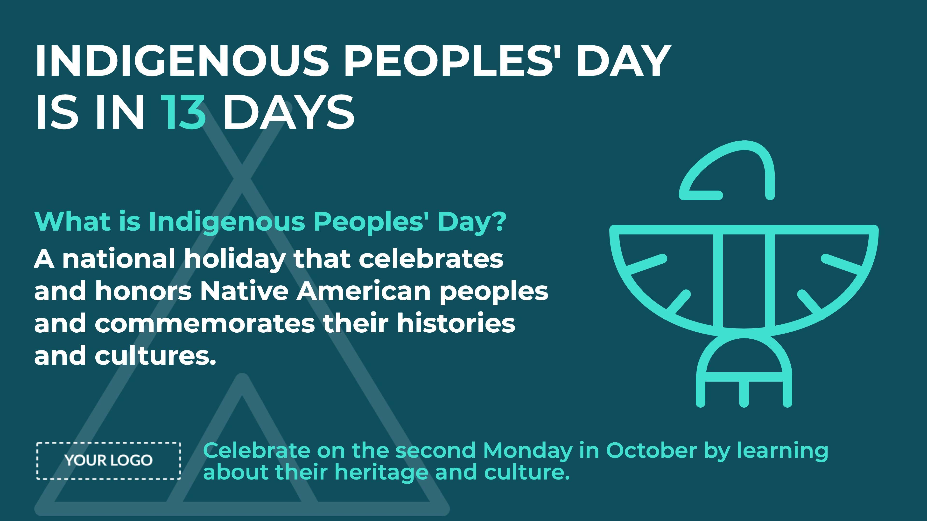 Indigenous Peoples' Day Digital Signage Template