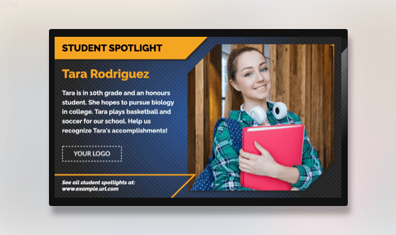 Student Spotlight Text & Image