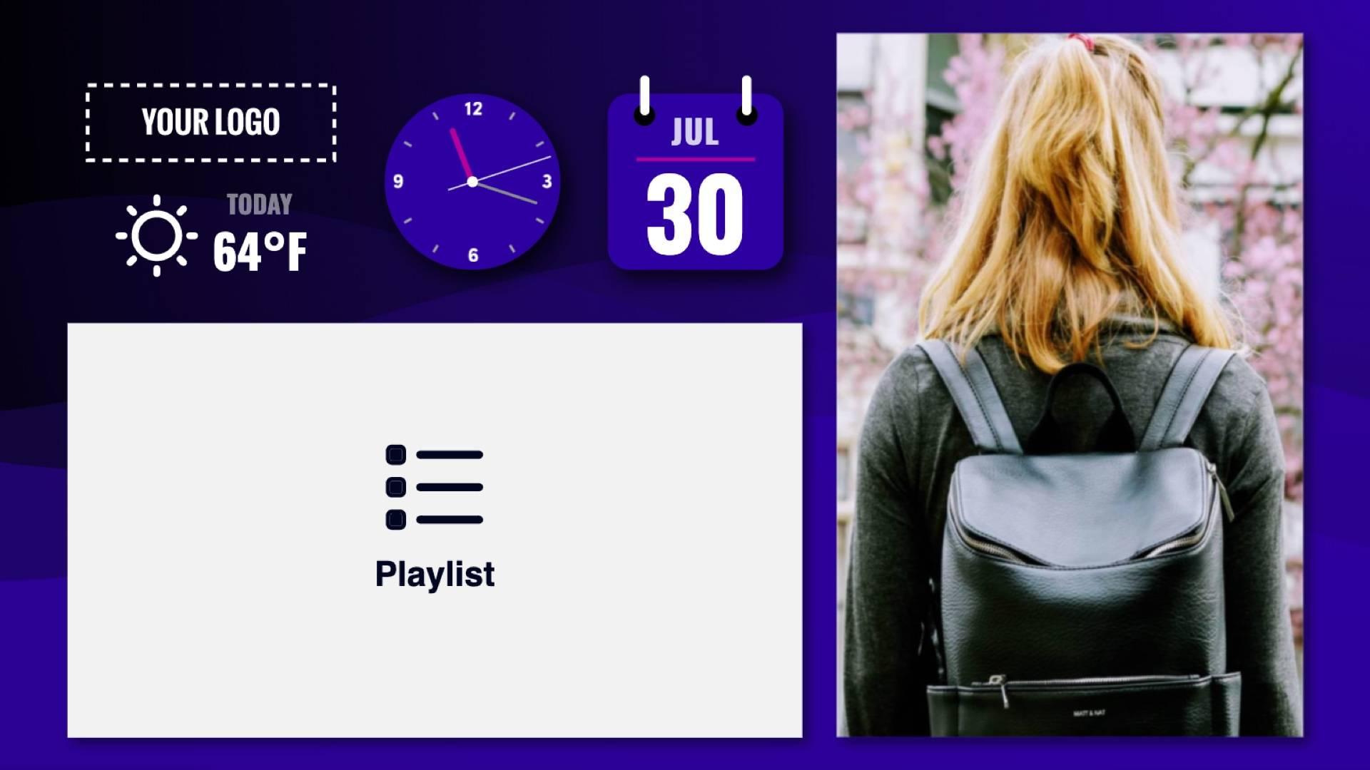 Zoned Playlist Wave Flyer Digital Signage Template
