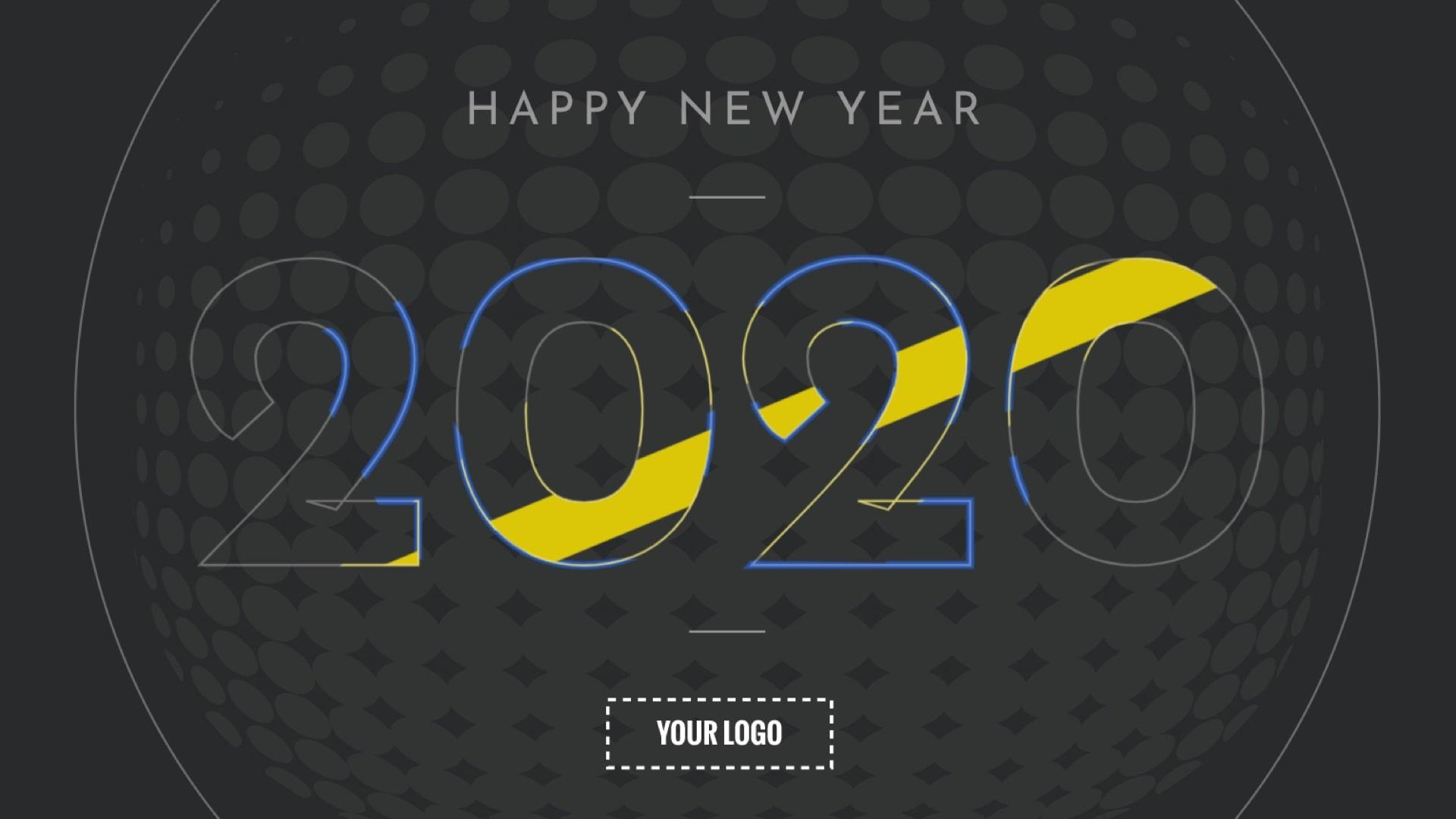 Happy New Year Digital Signage Template