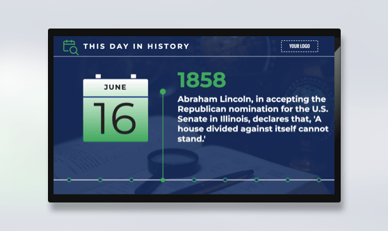 History - On This Day Portrait Digital Signage Template