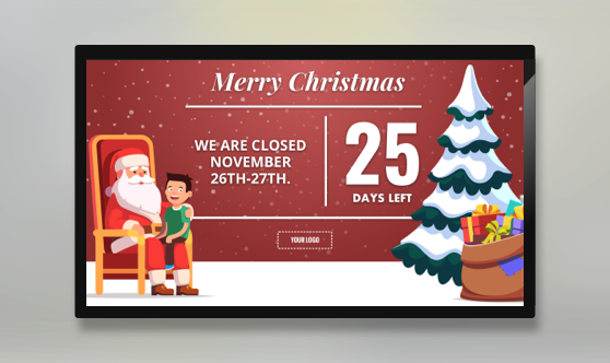 Holiday Christmas Countdown