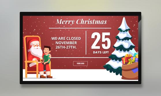 Holiday Christmas Countdown