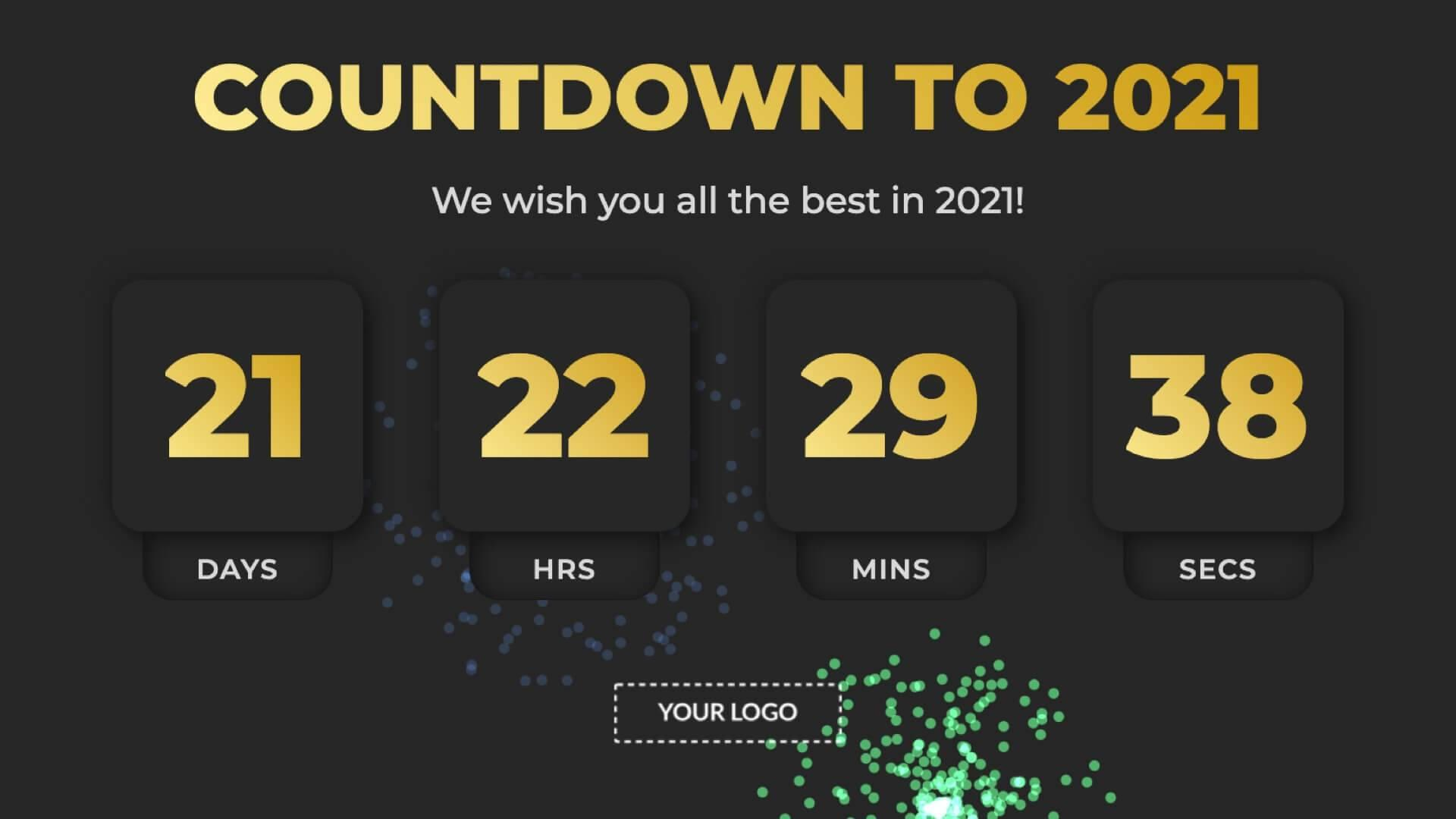 Countdown Happy New Year Digital Signage Template