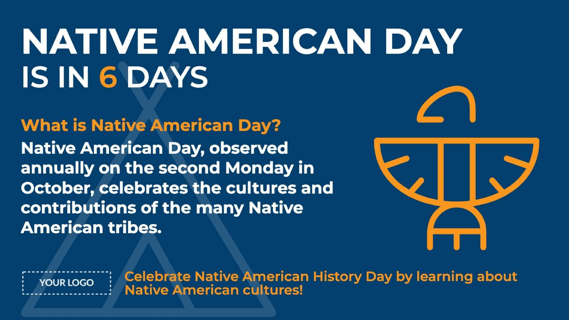 Holiday Native American Day Digital Signage Template