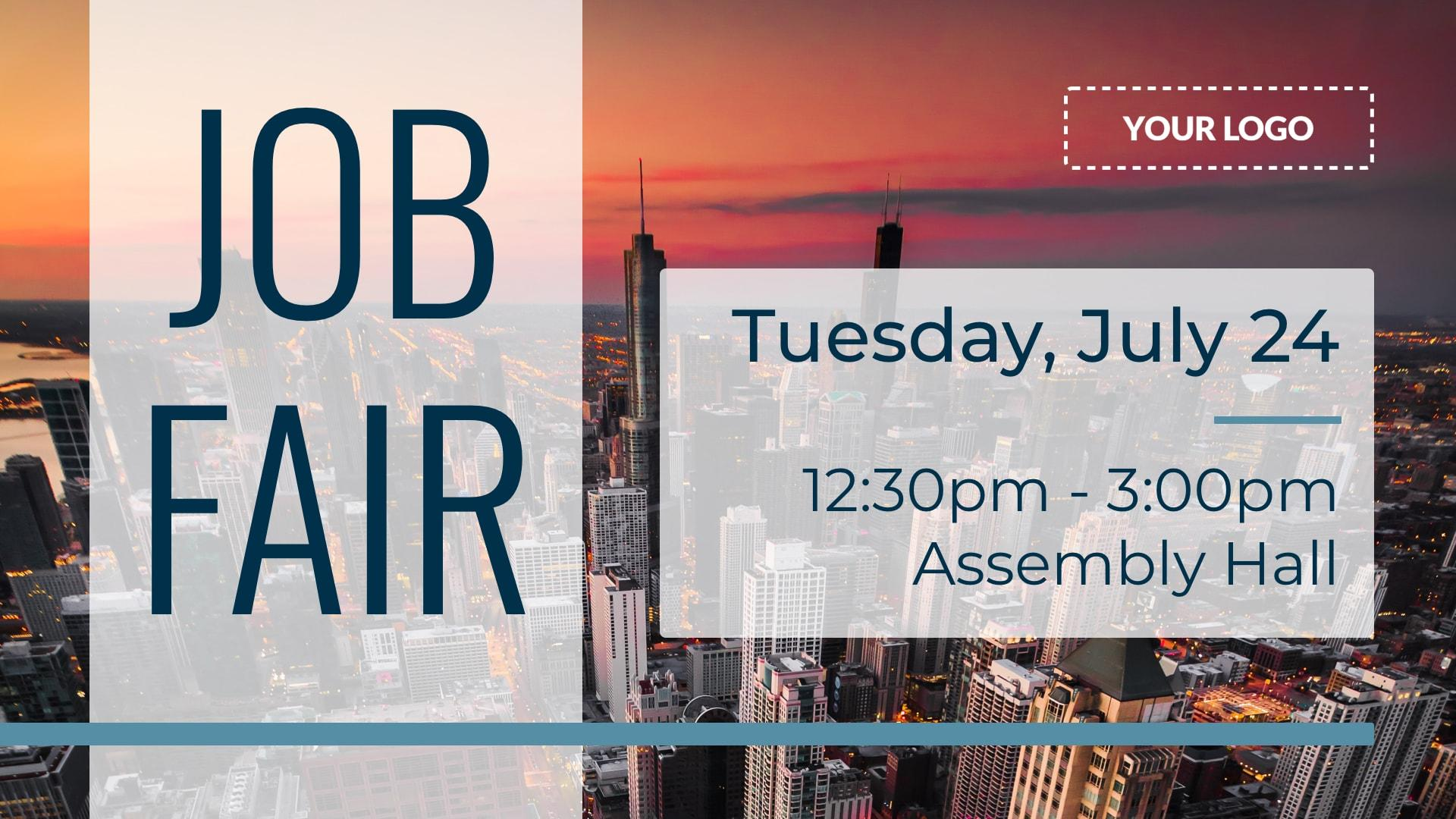 Job Fair Digital Signage Template